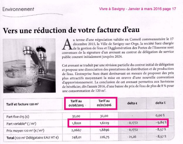extrait Vivre a Savigny janvier a mars 2016