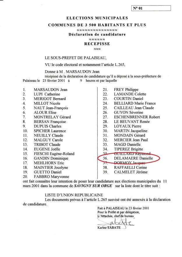SSO Liste Mun 2001