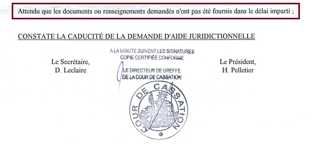 Ma demande d explications au bureau d aide juridictionnelle pr s de la cour de cassation le - Bureau d aide juridictionnelle paris ...