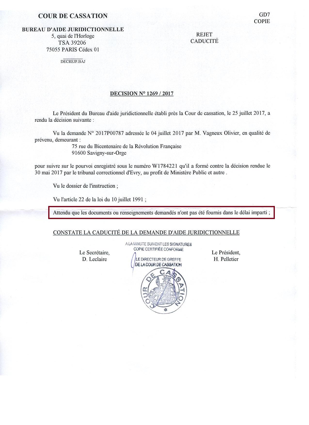 aide juridictionnelle Le Savinien libr