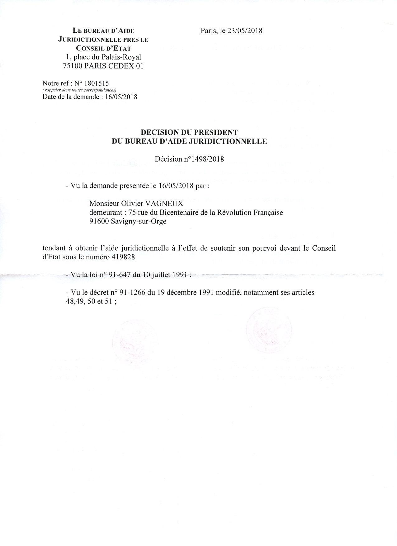 Quand Le Bureau D Aide Juridictionnelle Se Fait Juge De Cassation Le Site D Olivier Vagneux