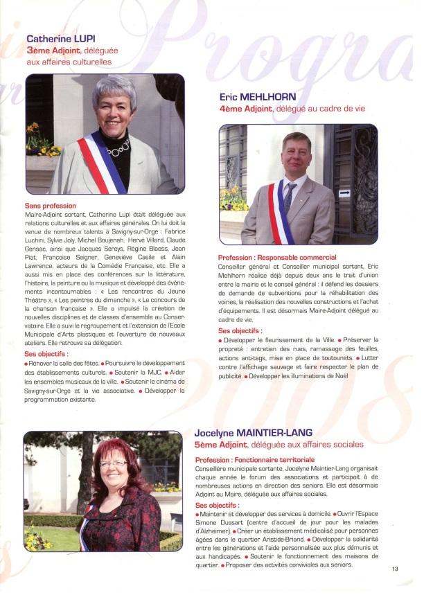 Extrait du magazine municipal d'avril 2008